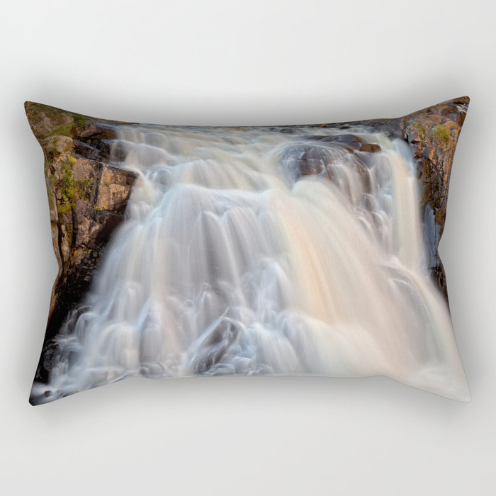 Chutes du Diable Waterfall Rectangular Pillow