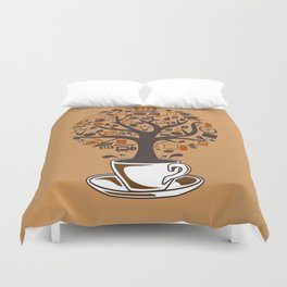 Coffee Tree Duvet Cover