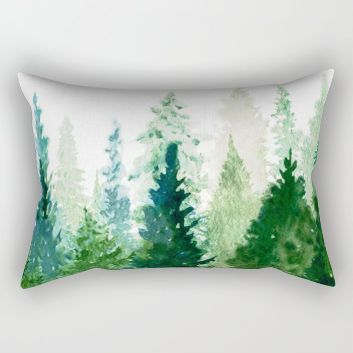 Pine Trees 2 Rectangular Pillow