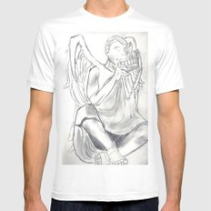 The Piper MEDIUM White Mens Fitted Tee