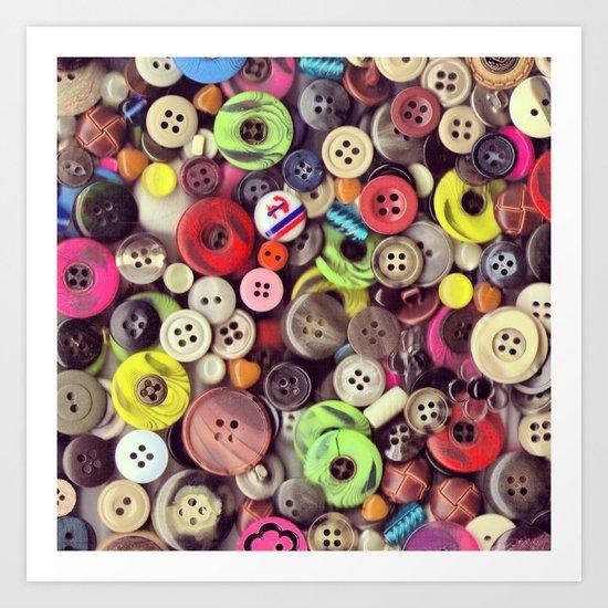 Button Jar Autopsy Art Print