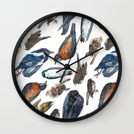 Dead Bird Pattern Wall Clock