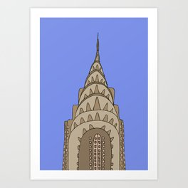 Chrysler Building , NY Art Print