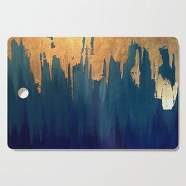 Gold Leaf & Blue Abstract Cutting Board