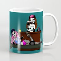 roller derby Mugs featuring Roller Derby Therapy by RonkyTonk