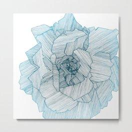 Linear Rose Metal Print