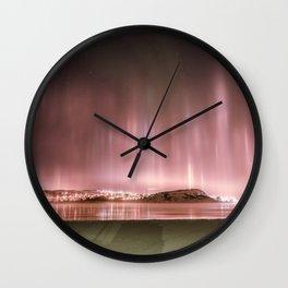 Kirkenes by night Wall Clock