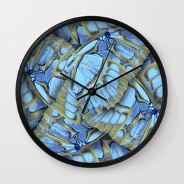 Blue Wings Wall Clock
