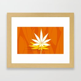 Cannabis Leaf Ascending Framed Art Print