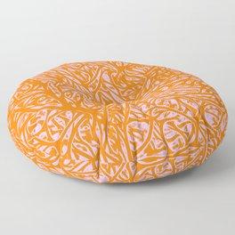 Summer Orange Saffron - Abstract Botanical Nature Floor Pillow