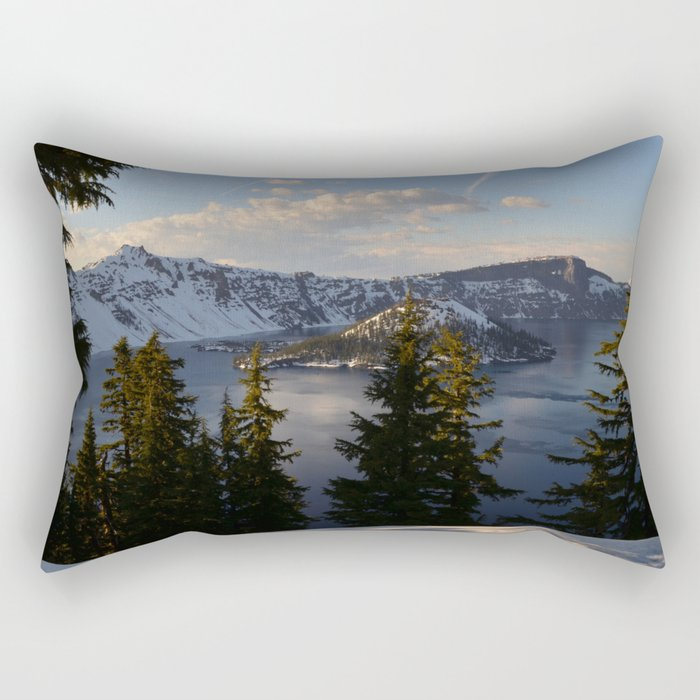 Crater Lake - Spring Rectangular Pillow