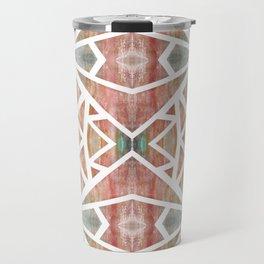 Abstract Watercolor Tile Travel Mug
