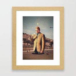 I See You   Collage Framed Art Print