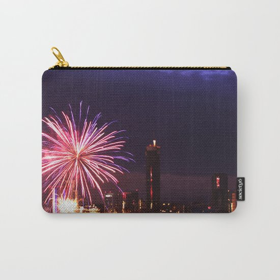 Firework in storm clouds Carry-All Pouch