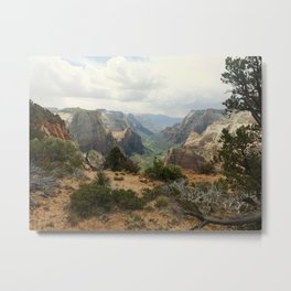 Above Zion Canyon Metal Print