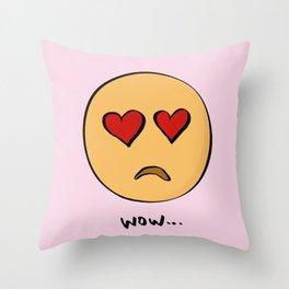 wow... Throw Pillow