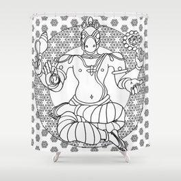 Hindu god Kalki Shower Curtain