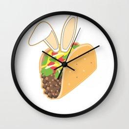Easter Bunny Ears Mexican Taco Wall Clock