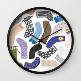 Socks Collections 2 Wall Clock
