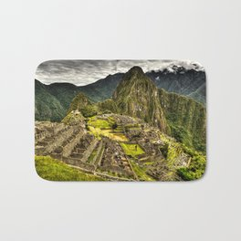 Machu Picchu in Hi-Res HDR landscape photo Bath Mat