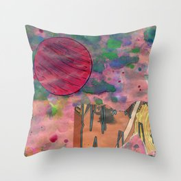 Io's Jovian Dawn Throw Pillow