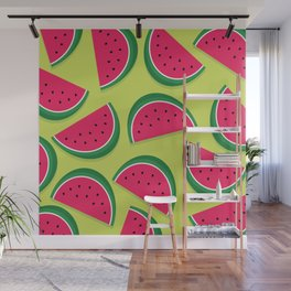 Juicy Watermelon Slices Wall Mural