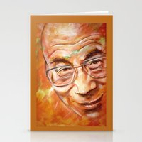 lama Stationery Cards featuring Dalai Lama by ARTito