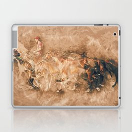 Abstract master of the horse Laptop & iPad Skin