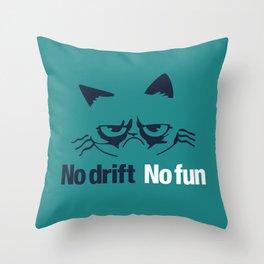 No drift No fun v2 HQvector Throw Pillow