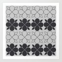 Black and Grey Flower Tile by oldurbanfarmhouse