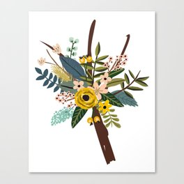 Bold Wildflower Bouquet Canvas Print