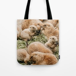 A Family of Groundhogs Tote Bag