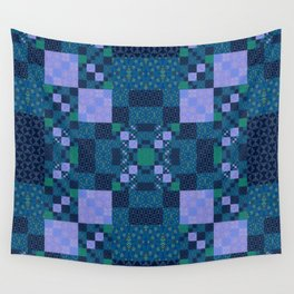 Elegant Geometric High Definition Quilt Lavender Teal Wall Tapestry
