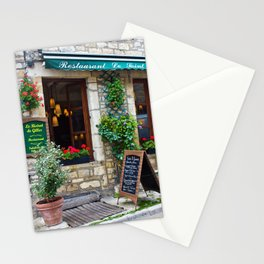 restaurant in france Stationery Cards