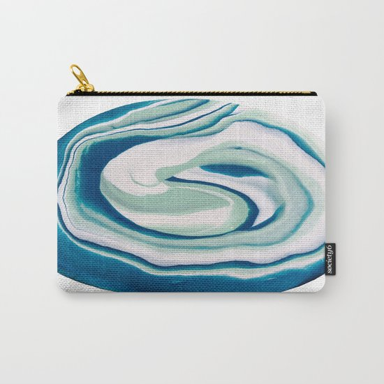 Marbling Turquoise Dreams Carry-All Pouch