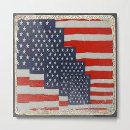 Patriotic Americana Flag Pattern Art Metal Print
