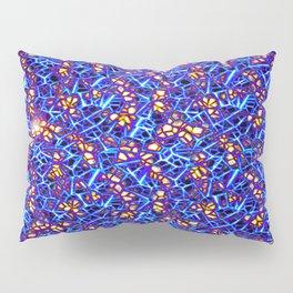 Blue Sub-atomic Lattice Pillow Sham