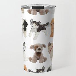 Fluffy Puppy Dog Kids Pattern Travel Mug