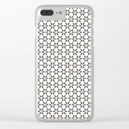 White, Black and Gold Triangular Collection. Clear iPhone Case