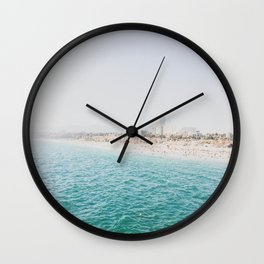Santa Monica Beach MINT Wall Clock