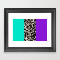 Leopard National Flag III Framed Art Print