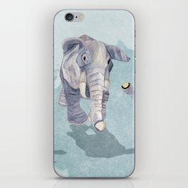 Elephants In Blue iPhone Skin