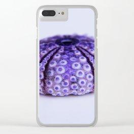 purple urchin Clear iPhone Case