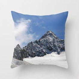 Mountain Summit Alpine Landscape Throw Pillow