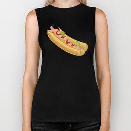 Hot Dog Girl Biker Tank