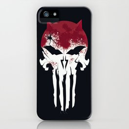 The Devil & The Punisher iPhone Case