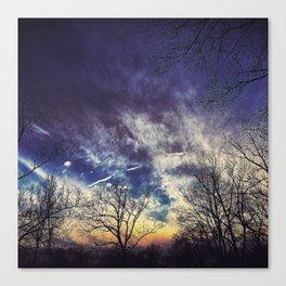 Contrail Sunset Canvas Print