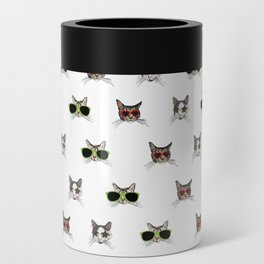 Cats Wearing Sunglasses Pattern Can Cooler