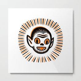 Werewolf Head Metal Print