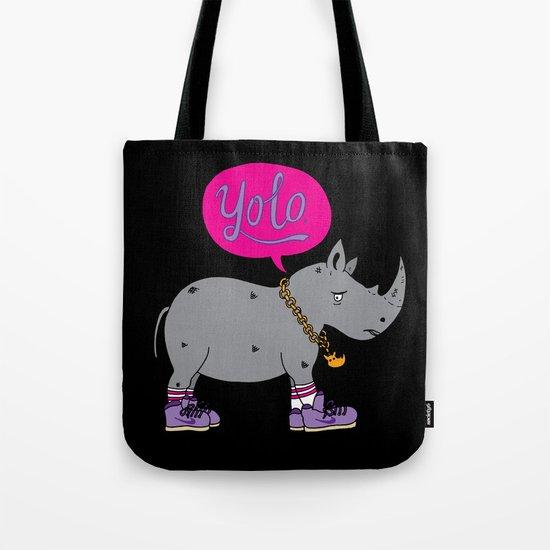 Yolo Rhino Tote Bag